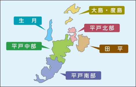 平戸エリアマップ