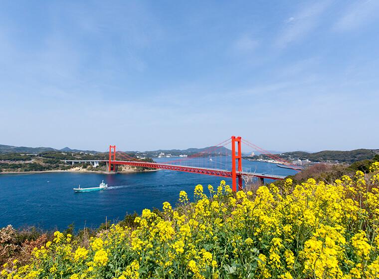 平戸大橋と平戸島