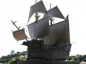 ポルトガル船入港碑