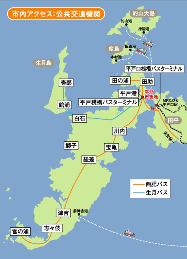 平戸市内アクセス:公共交通機関